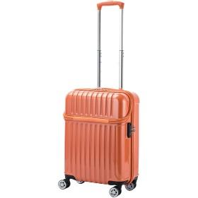 【36%OFF】トップオープンS 33L スーツケース オレンジカーボン s