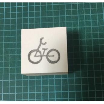 自転車の消しゴムはんこ