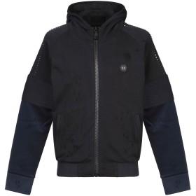 《期間限定 セール開催中》PHILIPP PLEIN メンズ スウェットシャツ ブラック L コットン 100% / ポリエステル / ポリウレタン