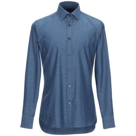 《セール開催中》CALIBAN メンズ デニムシャツ ブルー 39 コットン 100%