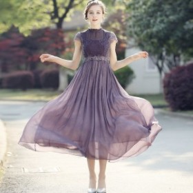 卒業式パンツスーツ 入学式 ママ ワンピ ス 結婚式ドレス お呼ばれワンピース 20代 30 代 40 代 ロン グドレス 袖あり 紫 黒