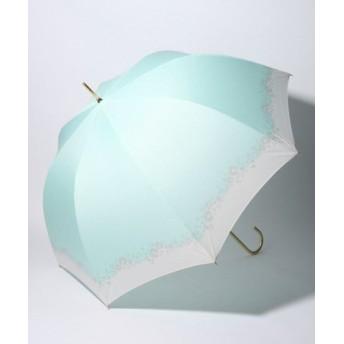 (pink trick/ピンクトリック)BE SUNNY ビーサニー 深張ジャンプ傘 長傘 フラワークラウン (晴雨兼用 UVカット 紫外線カット 耐風 軽量 撥水)/レディース ミント