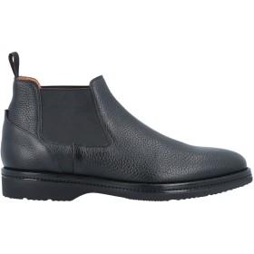 《セール開催中》SANTONI メンズ ショートブーツ ブラック 5.5 革