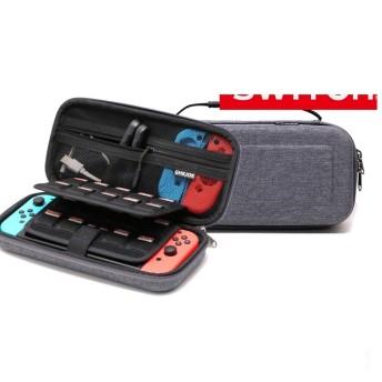 Nintendo Switch 収納ケース 高品質 大容量 小物収納ポケット付 任天堂スイッチ カバー ケース アダプタ類 収納保護 ニンテンドースイッチ switchcase03 ブラック レッド