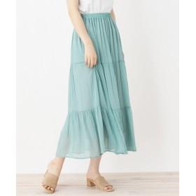 ひざ丈スカート - pink adobe ふんわりティアード スカート