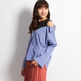 シャツ - G & L Style レディース トップス カットソー シャツ ボタン ボーイズ ドルマン ストライプ 大人 かわいい ストライプデザインシャツ 5036
