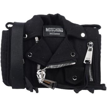 《9/20まで! 限定セール開催中》MOSCHINO レディース メッセンジャーバッグ ブラック 紡績繊維