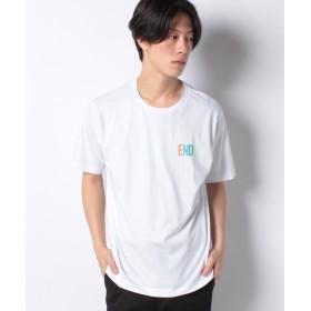 【58%OFF】 ウィゴー WEGO/ワンポイント配色ロゴTシャツ メンズ ホワイト S 【WEGO】 【タイムセール開催中】