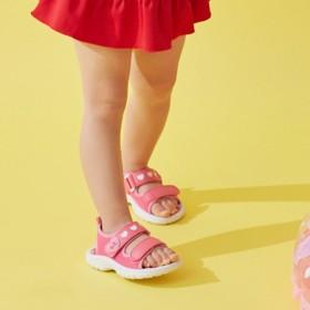 ミキハウス 【アウトレット】ジャージ素材のキッズサンダル ピンク