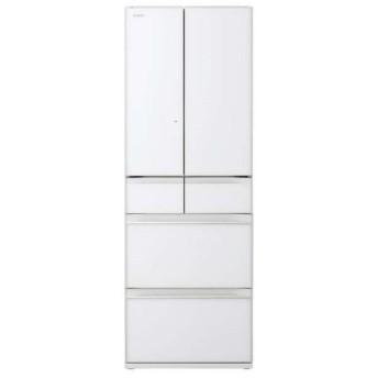 日立 R-HW52K(XW) クリスタルホワイト [冷蔵庫(520L・フレンチドア)] 冷蔵庫/冷凍庫