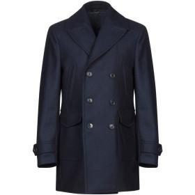 《期間限定 セール開催中》J.W. SAX Milano メンズ コート ダークブルー 52 ウール 70% / ナイロン 25% / 指定外繊維 5%