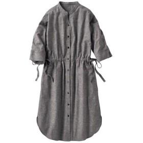 30%OFF【レディース】 コットンリネンロングシャツ - セシール ■カラー:グレー ■サイズ:S,3L,L,M,LL