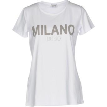 《9/20まで! 限定セール開催中》LIU JO レディース T シャツ ホワイト XL コットン 95% / ポリウレタン 5%