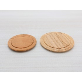 1/12 木製ミニチュア カッティングボード 丸小 1個入り
