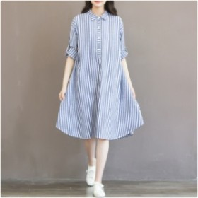 b52cf494bec06e ワンピース マタニティ 妊婦服 ルームウェア ワンピ 2019 シャツ 大きいサイズ 體型カバー