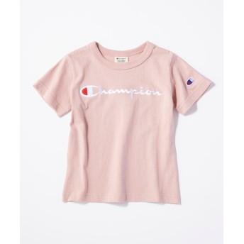 Champion スクリプトロゴTシャツ(ジュニアサイズ150cm) キッズ ライトピンク