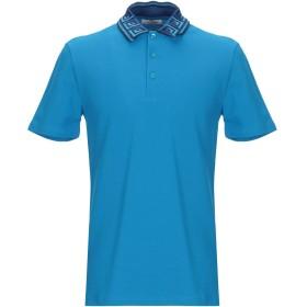 《期間限定セール開催中!》VERSACE COLLECTION メンズ ポロシャツ アジュールブルー S コットン 100%