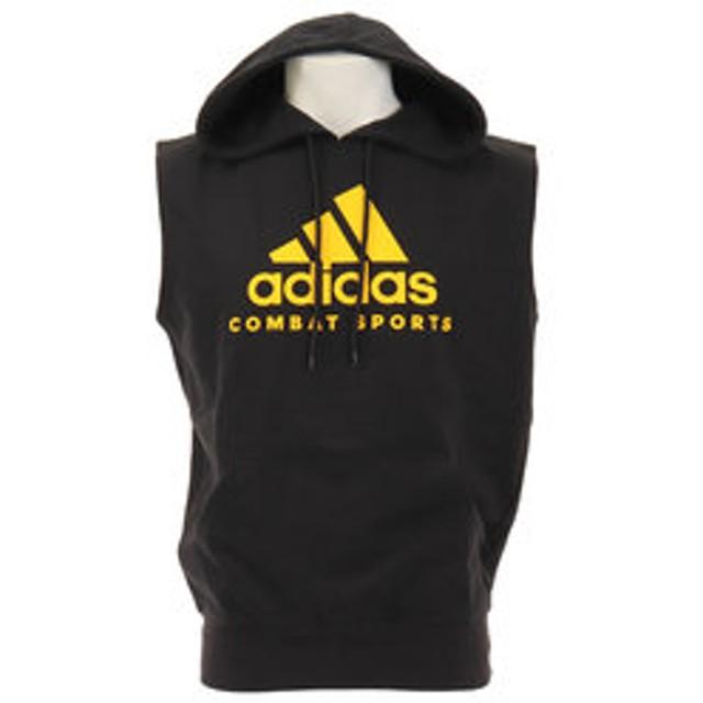 【Super Sports XEBIO & mall店:トップス】COMMUNITY スリーブレス フーディ ADICHCS/WS Bk/Yl