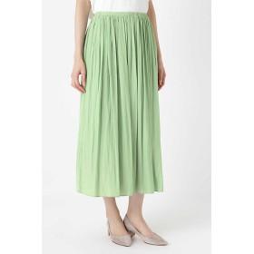 <HUMAN WOMAN/ヒューマンウーマン> 《arrive paris》ギャザースカート(0779120800) ライトグリーン 【三越・伊勢丹/公式】