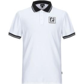 《期間限定セール開催中!》JUST CAVALLI メンズ ポロシャツ ホワイト S コットン 92% / ポリウレタン 8% / ポリエステル