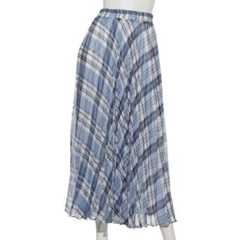 72%OFF Doux archives (ドゥアルシーヴ) チェックアコーディオンプリーツスカート BLUE