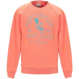 《セール開催中》PEPE JEANS メンズ スウェットシャツ オレンジ S コットン 100%