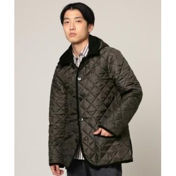 (BEAMS MEN/ビームス メン)Traditional Weatherwear × BEAMS/別注 WAVERLY フーディー/メンズ PQ3501_CHARCOALXBLACK 送料無料