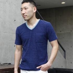 [マルイ]【セール】ミックスパイルブロックTシャツ/メンズメルローズ(MEN'S MELROSE)