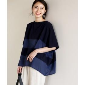 Tシャツ - boujeloud シースルーの綺麗目抜け感◆ボーダーTシャツ