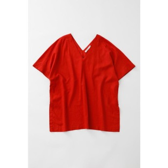 【30%OFF】 マウジー LINEN BLEND V NECK トップス レディース RED FREE 【MOUSSY】 【セール開催中】