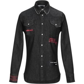 《期間限定セール開催中!》SOLD OUT メンズ デニムシャツ ブラック 38 コットン 98% / ポリウレタン 2%