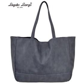 Legato Largo(レガートラルゴ)スモーキーフェイクレザートートバッグ(A4対応) トートバッグ・手提げバッグ