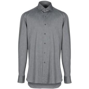 《期間限定セール開催中!》BOGLIOLI メンズ シャツ 鉛色 38 コットン 100%