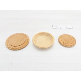 現品限り 1/12 木製ミニチュア 木製削り出し皿・カッティングボードセット S1