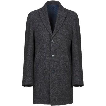 《期間限定セール開催中!》GREY DANIELE ALESSANDRINI メンズ コート ダークブルー 46 ウール 61% / ナイロン 20% / ポリエステル 8% / アクリル 6% / シルク 5%