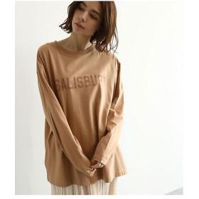 【SALE(伊勢丹)】<OZOC/オゾック> [洗える]同色ロゴワイドTシャツ(2001526665) チャ 【三越・伊勢丹/公式】