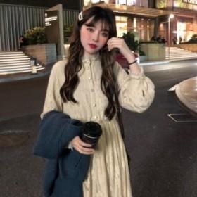 ロングワンピース 春新作 大きいサイズ 韓国 ファッション レディース ワンピース ロングワンピース ロングワンピ 春新作 ハイネック