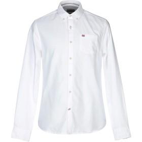 《期間限定セール開催中!》NAPAPIJRI メンズ シャツ ホワイト S コットン 100%