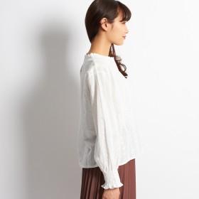 ブラウス - G & L Style レディース トップス カットソー 長袖 シャツ ブラウス カジュアル シンプル 刺繍レースブラウス 5922
