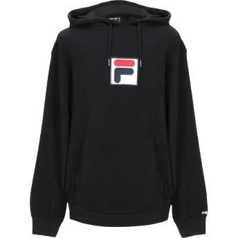 《セール開催中》FILA メンズ スウェットシャツ ブラック XL コットン 100%