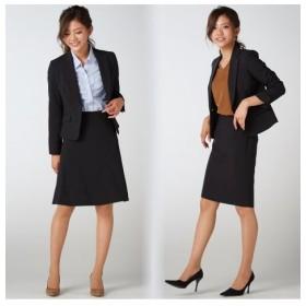 洗えてロングシーズン活躍♪お得な2スカートセットスーツ (大きいサイズレディース)スーツ,women's suits ,plus size