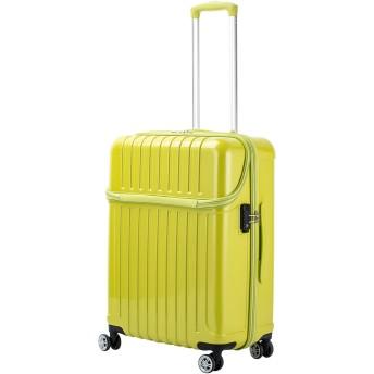 【37%OFF】トップオープンM 59L スーツケース ライムカーボン m