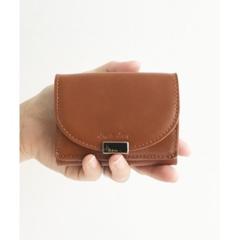 ハコ Legato Largo フェイクレザー三つ折りミニ財布 レディース キャメル N 【haco!】