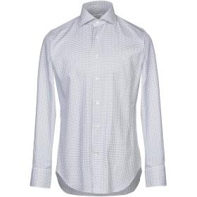 《期間限定セール開催中!》GUGLIELMINOTTI メンズ シャツ ホワイト 39 コットン 100%