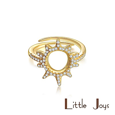 Little Joys 原創設計品牌 小太陽鋯石戒指 925銀鍍金