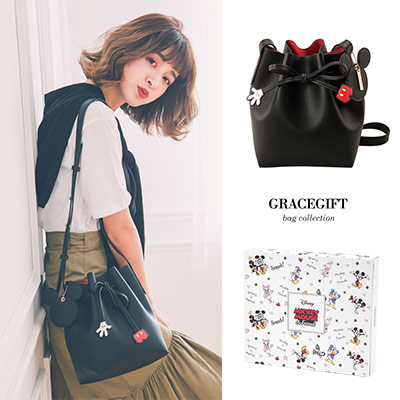 Disney collection by Grace gift-米奇造型綁結束繩水桶包