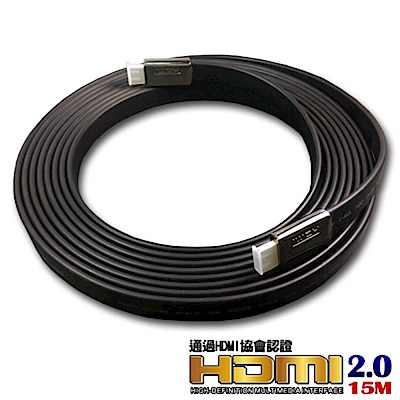 iNeno-HDMI 4K超高畫質扁平傳輸線 2.0版-15M