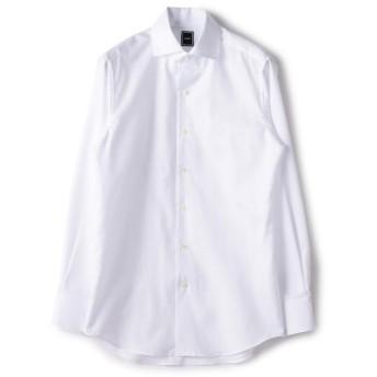 シップス SD: コットン リネン ソリッド オックスフォード ワンピースカラー シャツ(ホワイト) メンズ ホワイト 38 【SHIPS】