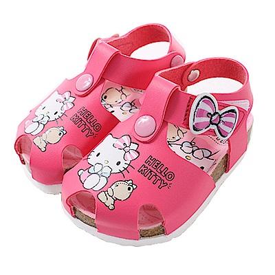魔法Baby 台灣製Hello kitty正版 女童涼鞋  sk0652