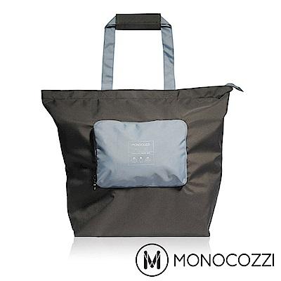 MONOCOZZI Bon Voyage 旅行折疊手提肩背包(L) - 炭黑